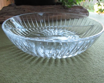 Vintage Round Crystal Divided Bowl Starburst Design Vintage Dinnerware and Replacements