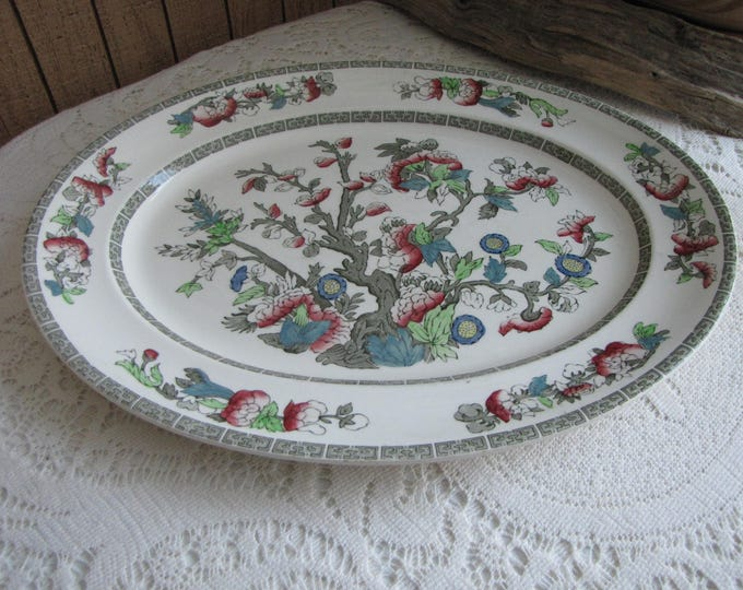 Indian Tree dinner platter Johnson Bros. 1979-1982 Vintage Dinnerware and Replacements