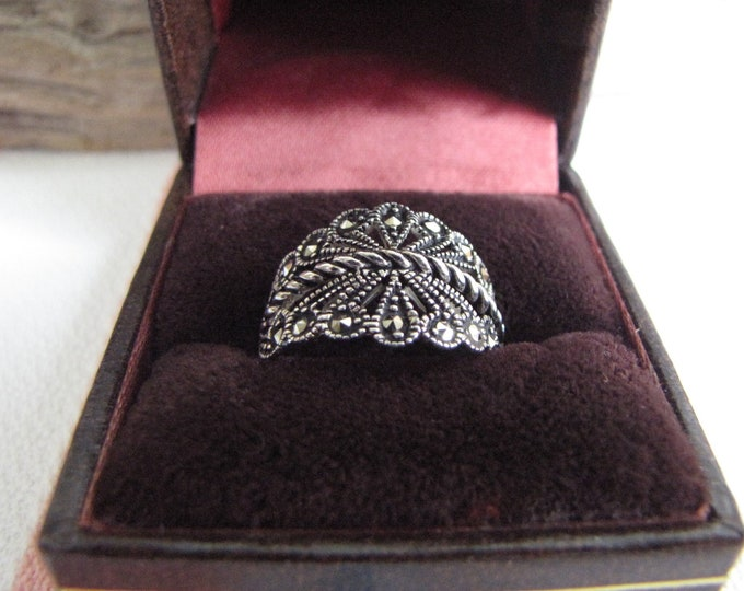 Marcasite Sterling Ring Vintage Jewelry and Accessories