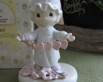 Precious Moments You Have Touched So Many Hearts Figurine 1993 Retired Jonathan and David Figurine