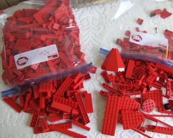 Legos Red Bricks and Specialty Bricks Vintage Toys and Building Blocks