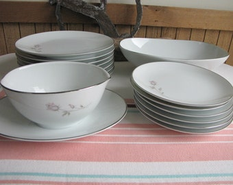Noritake Pasadena Set of Fifteen (15) Pieces 1962 to 1978 Vintage Dinnerware and Replacements
