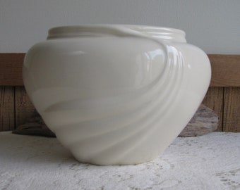 Vintage Haeger Pottery White Art Deco Art Pottery Imperfections Vintage Home Decor and Florist Ware