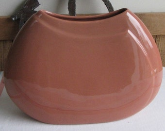 Vintage Haeger Pottery terra cotta vase American Potteries