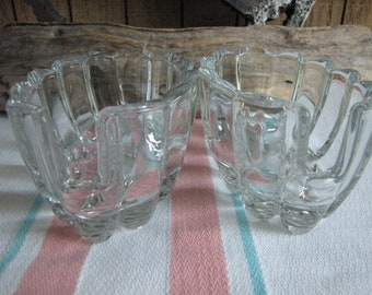 Glass Spoon Rests Princess House Set of Two Vintage Dinnerware and Replacements