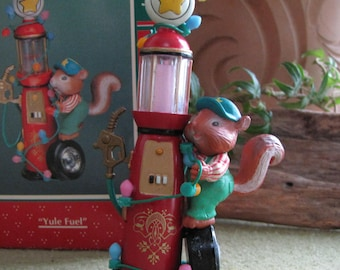 "Enesco Ornament ""Yule Fuel"" Wrigley 1994 Christmas Tree Decoration Collectible Mr. Squirrel Treasury of Christmas Ornaments"