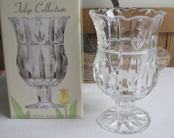 St. George Crystal Vase Tulip Collection Flower and Bouquets Vintage Florist Ware