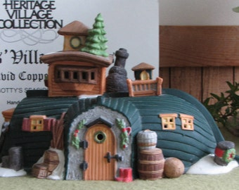 Dicken's Village Series David Copperfield's Peggotty's seaside cottage lighted 1989-1992