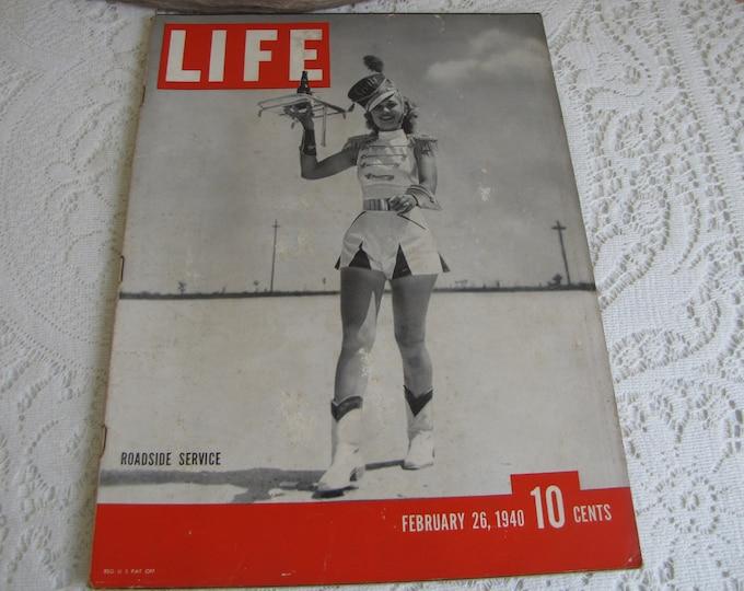 Life Magazines 1940 February 26 Roadside Service Vintage Magazines and Advertising