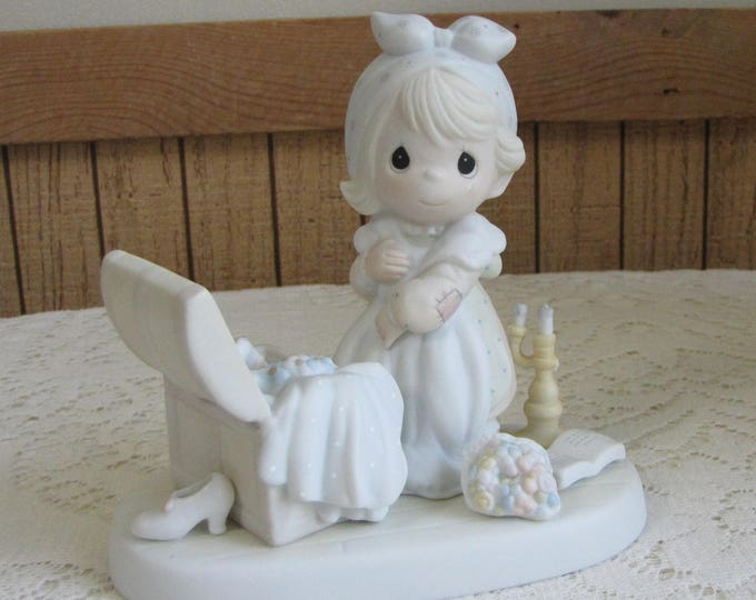 Precious Moments Precious Memories Figurine Sailboat 1995 Symbol Retired