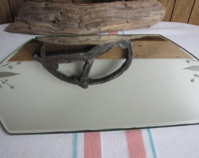 Vintage Etched Dresser Mirror