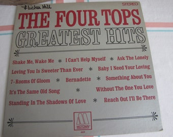 Four Tops Greatest Hits Vinyl Album Vintage Music and Albums 1967
