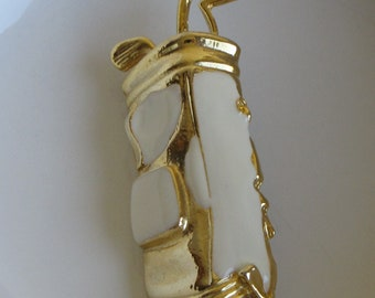 Golf Bag Brooch Vintage Jewelry and Accessories