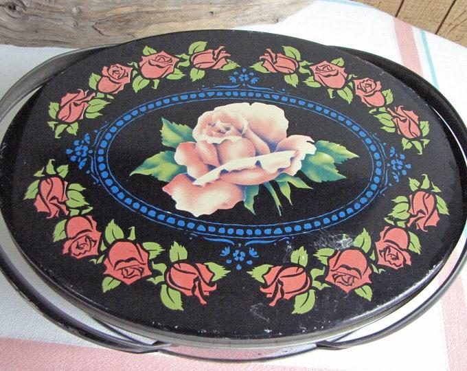 Picnic tin black rose
