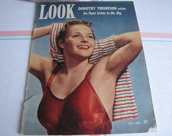Look Magazine July 1, 1941 Vintage Magazines and Advertising