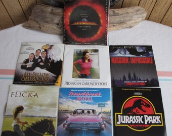 Soundtrack Compact Disc Lot of Seven (7) Vintage Music and Soundtracks
