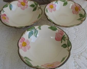 Franciscan Desert Rose Dessert Bowls 1949-1953 Three (3) Vintage Dinnerware and Replacements