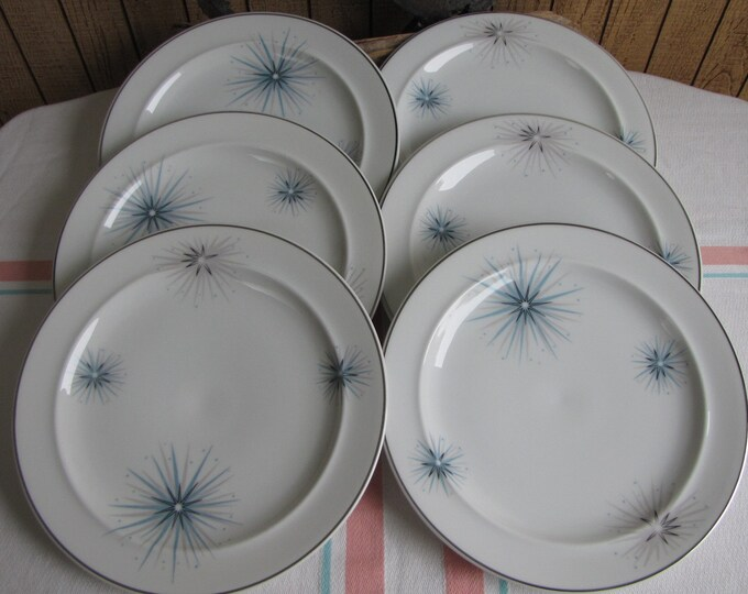 Easterling Celestial bread plates 1950s set of 6 Vintage Dinnerware and Replacements