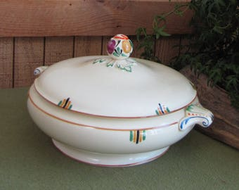 """Booth Covered Vegetable Bowl, Booths Vellum Made in England """"Elizabethan"""" Vintage Dinnerware and Replacements"""