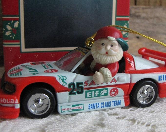 Enesco Ornament Santa's Speedway The Treasury of Christmas Vintage Tree Decorations