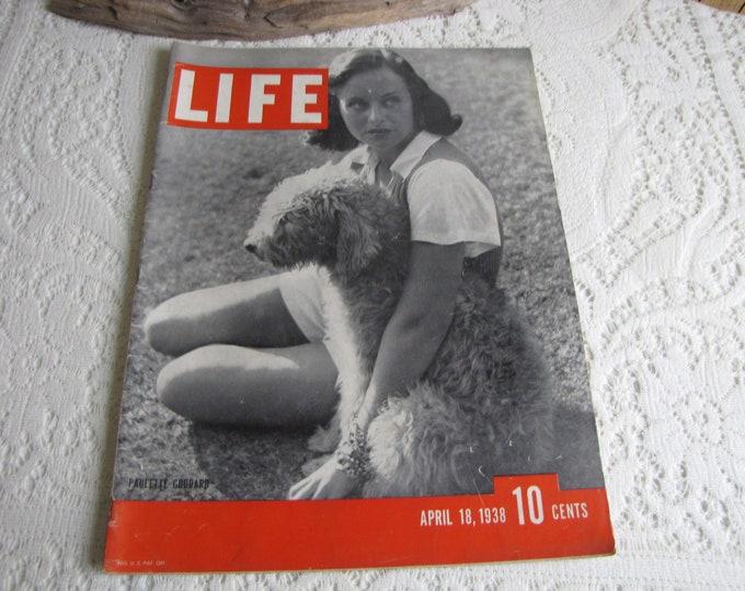 Life Magazines 1938 April 18 Paulette Goddard Vintage Magazines and Advertising