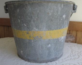 Galvanized Bucket Rustic and Salvage Metal Buckets