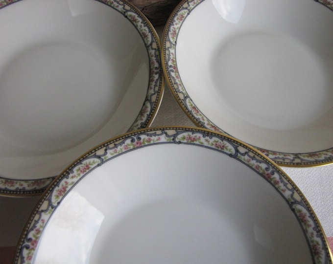 Theodore Haviland 1903 Coupe Bowls Antique Dinnerware and Replacements Set of Three (3) Soup Bowls