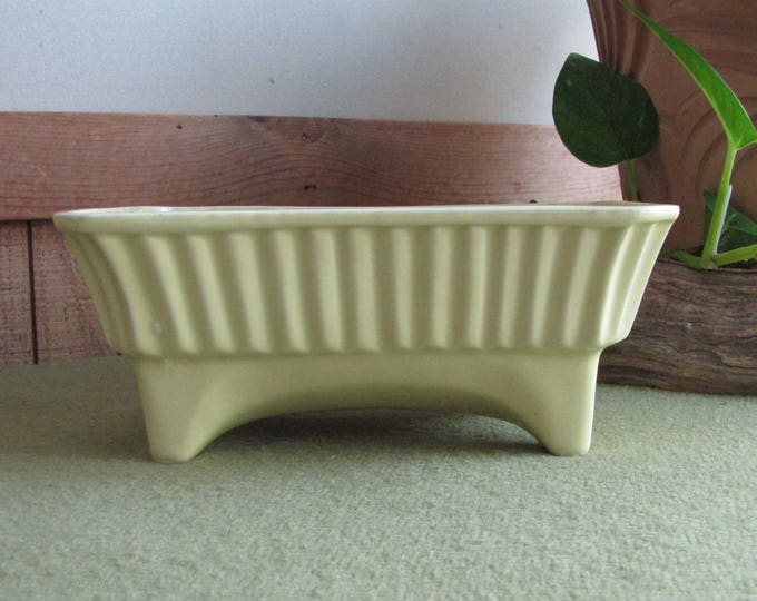 Yellow USA Footed Planter Vintage Planters and Pots #2001 Home Decor Indoor Planters