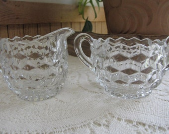 Fostoria American cream and sugar set Vintage Dinnerware and Replacements