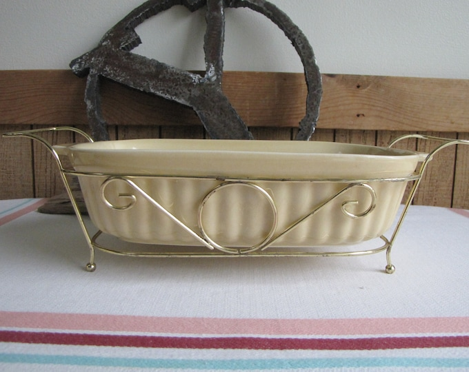 Pflatzgraff casserole with brass stand Vintage Kitchens and Cookware