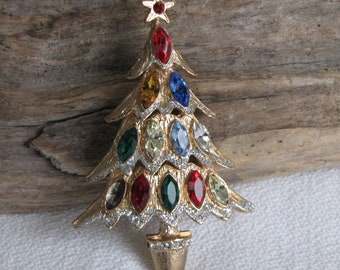 Vintage Christmas Brooch Holiday Jewelry and Accessories