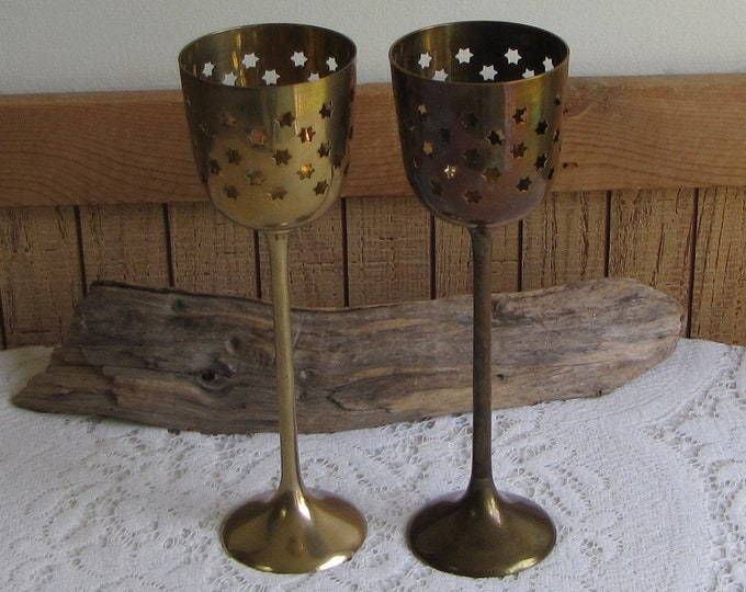 Brass Star Candle Holders Vintage Home Decor Made in India