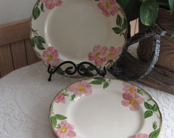 Franciscan Desert Rose Dinner Plates Vintage Dinnerware and Replacements Set of Four (4) Made in California 1971-1976