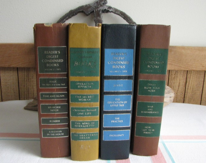 Readers Digest Condensed Books 1970s Vintage Fiction and Literature