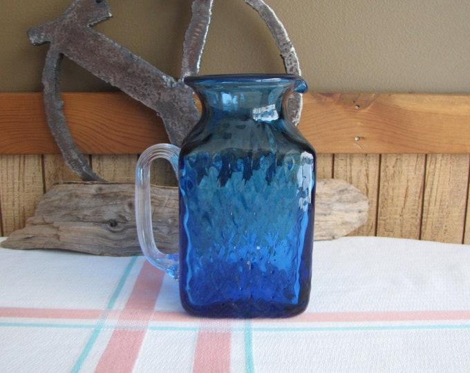 Cobalt blue pitcher Pilgrim Glass 16 oz. Vintage Glass and Kitchens