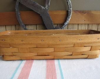 Longaberger Cracker Basket Vintage Serving Ware