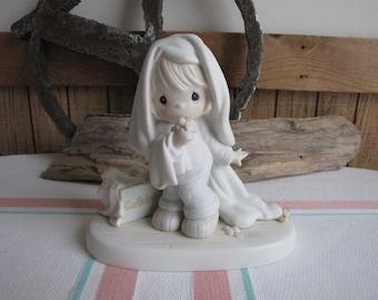 Precious Moments June Calendar Girl Figurine G-Clef Symbol 1992