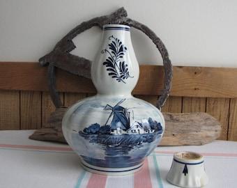 Vintage Blue Delft musical liquor decanter Amsterdam Holland