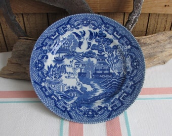 Blue Willow Small Plate Japan Vintage Chinoiserie Home Decor
