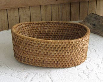 Vintage Oval Woven Basket Flowers or Garden Trug