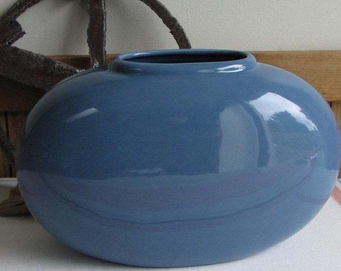Haeger Pottery Periwinkle Squat Vase Vintage Potteries and Home Decor