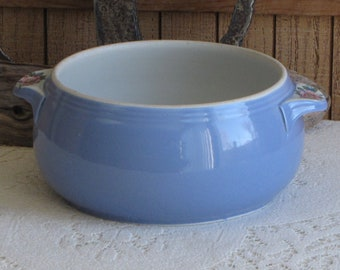 Hall Casserole Rose Parade Blue Kitchenware Vintage Dinnerware and Replacements
