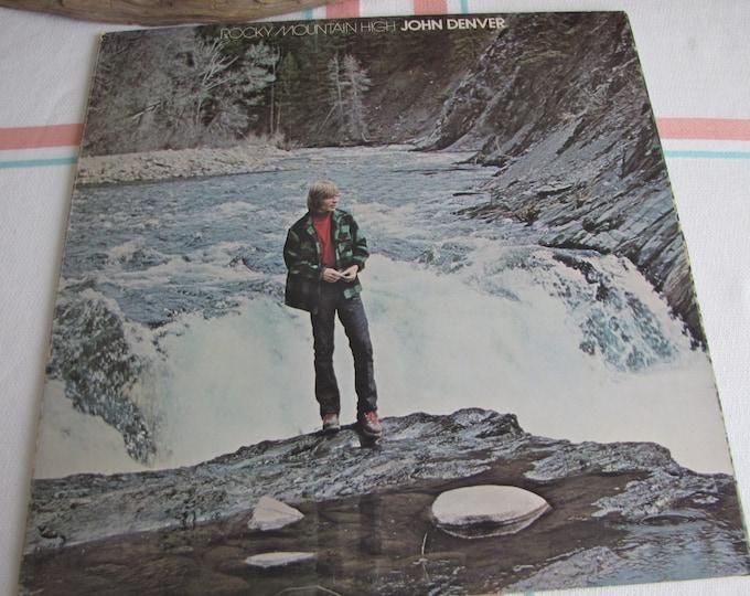 John Denver Rocky Mountain High Vinyl Album Vintage Music and Albums 1972