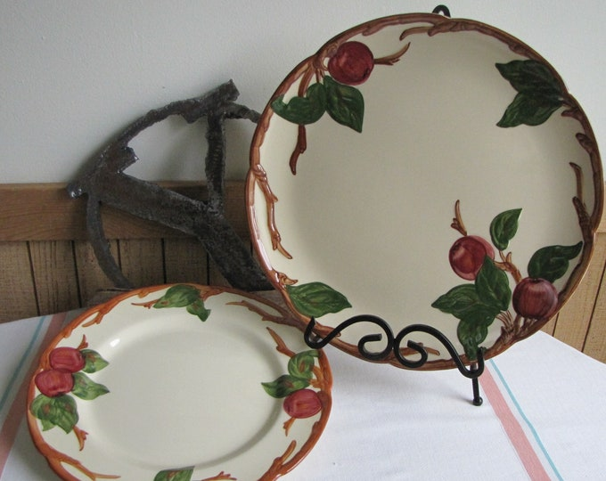 Franciscan Apple Chop and Dinner Plates Vintage Dinnerware and Replacements Two (2) Pieces
