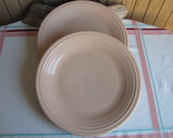 Fiesta Apricot Dinner Plates Set of 2 1986-1998 Vintage Dinnerware and Replacements