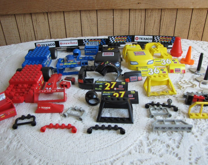 Lego Mega Blocks Cars and Race Props Vintage Toys and Building Blocks
