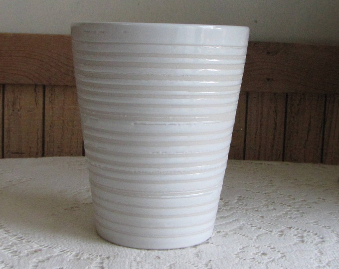 White Clay Vase Vintage Planters and Vases Florist Ware and Floral Bouquets