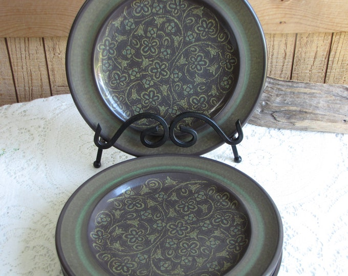 Franciscan Madeira Salad Plates Vintage Dinnerware and Replacements California Pottery 1967-1983 Set of 4 (four) Plates