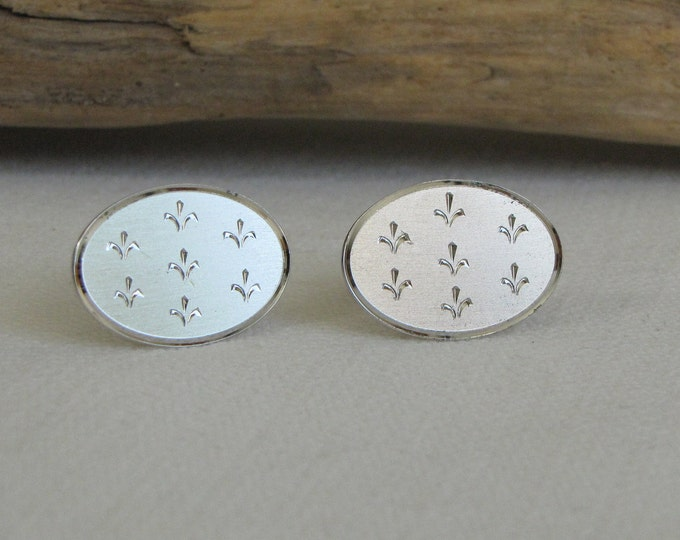 Hadley Fleur di Lis Cufflinks Sterling Silver Vintage Men's Jewelry and Accessories