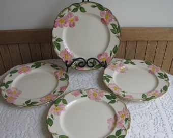 Franciscan Desert Rose Dinner Plates Set of Four (4) 1960s Vintage Dinnerware and Replacements